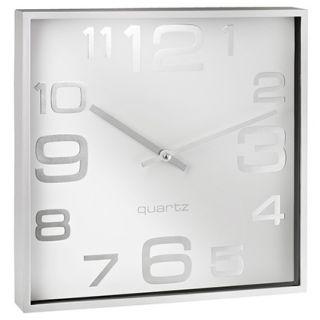 Stenska ura, kvadratna, bela
