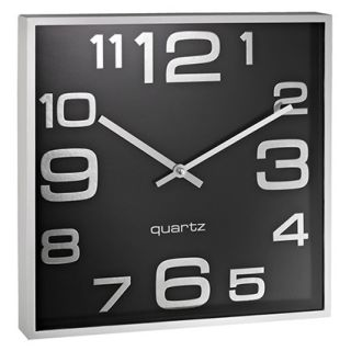 Stenska ura, kvadratna, črna