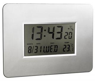 Stenska LCD ura, radijsko vodena