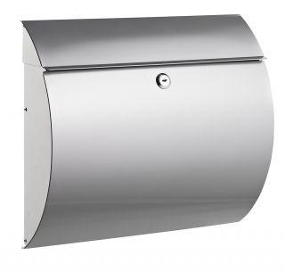 Poštni nabiralnik 8607, kovinski, srebrn
