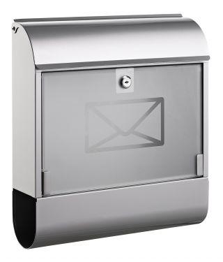 Poštni nabiralnik 8608, kovinski+steklo