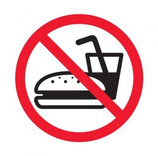 Nalepka Prepoved vnosa hrane 114 x 114mm