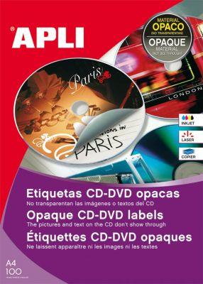 Nalepke za CD/DVD, premer 114 mm