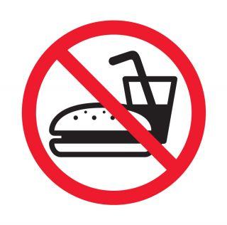 Nalepka zrcalna Prepoved vnosa hrane