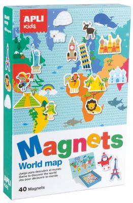 Magneti zemljevid sveta, komplet