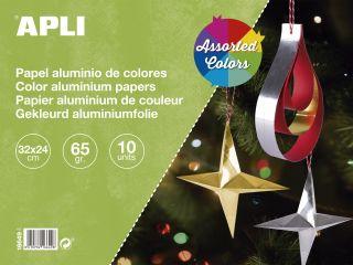 Aluminijast papir 32x24 10 kos