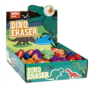 Displej radirke dinozavri, 12 kos