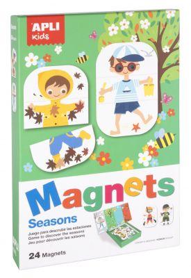 Magneti letni časi, komplet, 24 kos