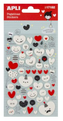 Nalepke srca 1 set