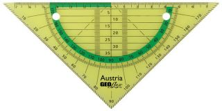 GEOflex trikotnik flexi 15cm, neon zelen