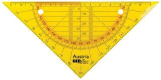 GEOflex trikotnik flexi 15cm, neon oranž