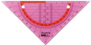 GEOflex trikotnik flexi 15cm, neon roza
