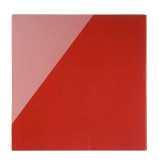 Tabla stenska steklena 38 x 38 cm, rdeča