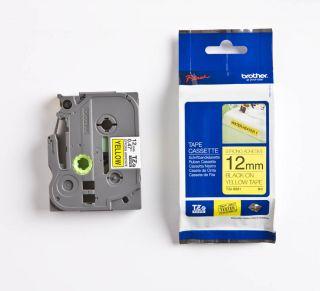 TZES631 Rumen/črn 12mm, trak za PT