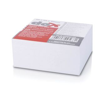 Kocka blok lepljena 85x85mm bela