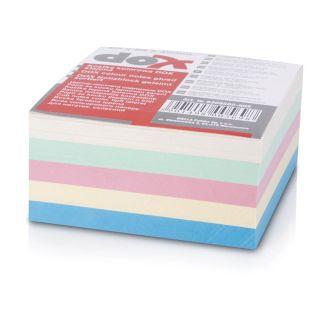 Kocka blok lepljena 85x85mm pastel