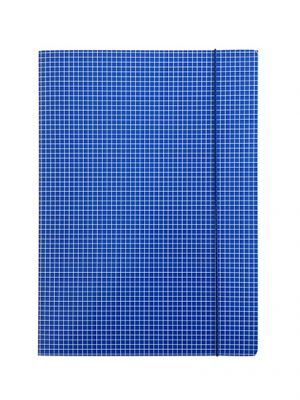 Mapa z elastiko A4 karton, karo, modra