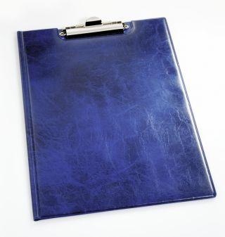 Mapa z vpenjalno sponko (2355) modra