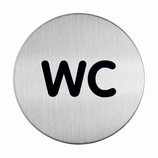 Piktogram - WC, fi 83mm (4907)