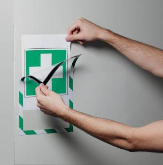 Okvir DURAFRAME MAGNETIC A4, zeleno-bel