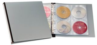 Album za CD/DVD plošče, srebrn (5277)