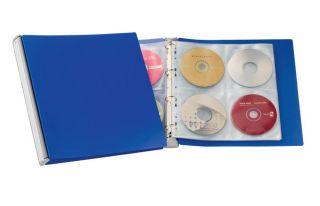 Album za CD/DVD plošče, moder (5277)