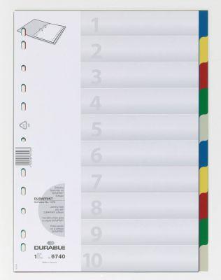 Ločilni listi A4 1-10 (6740)