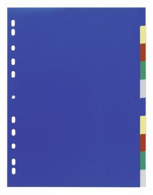 Ločilni listi 1/10 širši barvasti (6747)