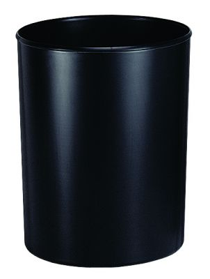 Koš za smeti negorljiv, črn