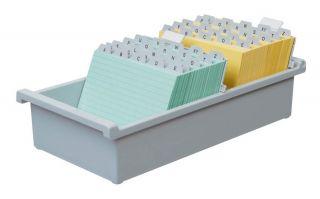 Škatla za kartotečne kartice A6 odprta
