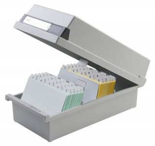 Škatla za kartotečne kartice A6 zaprta