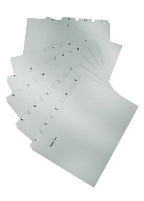 Ločilni listi za kartotečne kartice A4