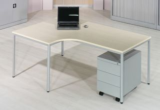 Pisalna miza L, javor 180 cm, leva