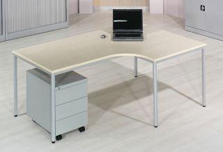 Pisalna miza L, javor 180 cm, desna
