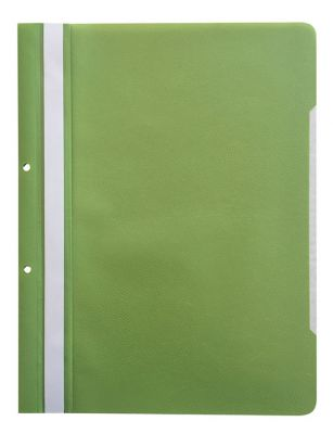 Mapa s sponko in 2 luknjama, zelena