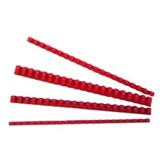Spirale PVC  6 mm, rdeče, 100 kos
