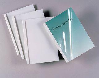 Platnice za termo vezavo  6 mm, bele