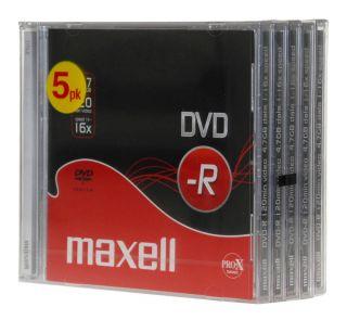 DVD-R 4,7GB 16X 5kos, 10mm škatlice