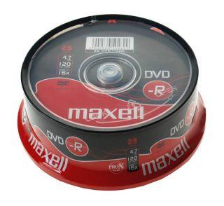DVD-R 4,7GB 16X 25 na osi