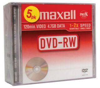 DVD-RW 4,7GB 2X, 5kos, 10mm škatlice