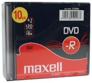 DVD-R 4,7GB 16X 10kos 5mm škatlice