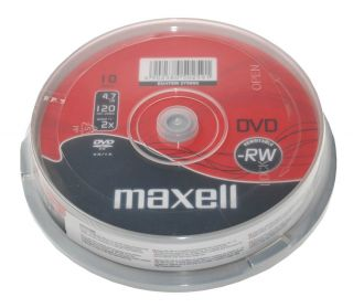 DVD-RW 4,7GB 2X 10 na osi
