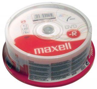 DVD-R 4,7GB 16X 25 na osi printable