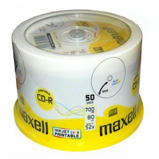 CD-R 700MB 52X, 50 na osi printable