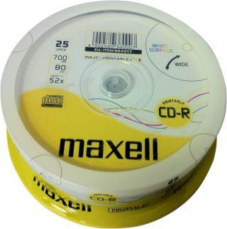 CD-R 700MB 52X, 25 na osi printable