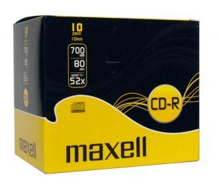 CD-R 700MB XLS 52X 1 kos 10mm škatlica