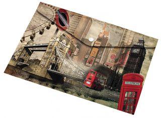 Mapa z gumbom A5 LONDON