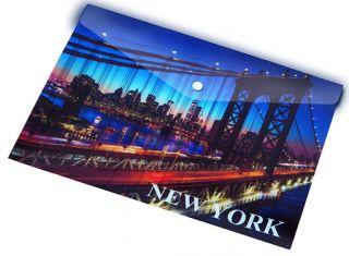Mapa z gumbom A5 NEW YORK